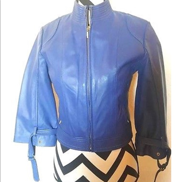 Arden B Jackets & Blazers - Arden B REAL lamb leather cropped jacket